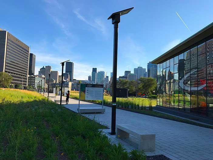 Solar LED lighting system in Canada