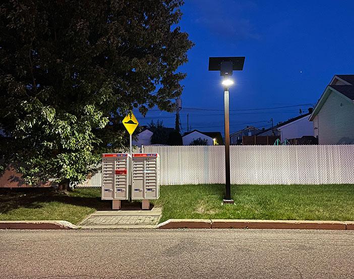 Canada Post community mailboxes solar lighting