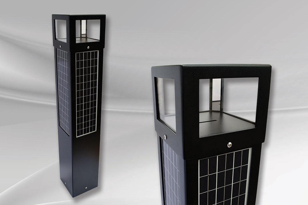 Outdoor solar bollard SB40