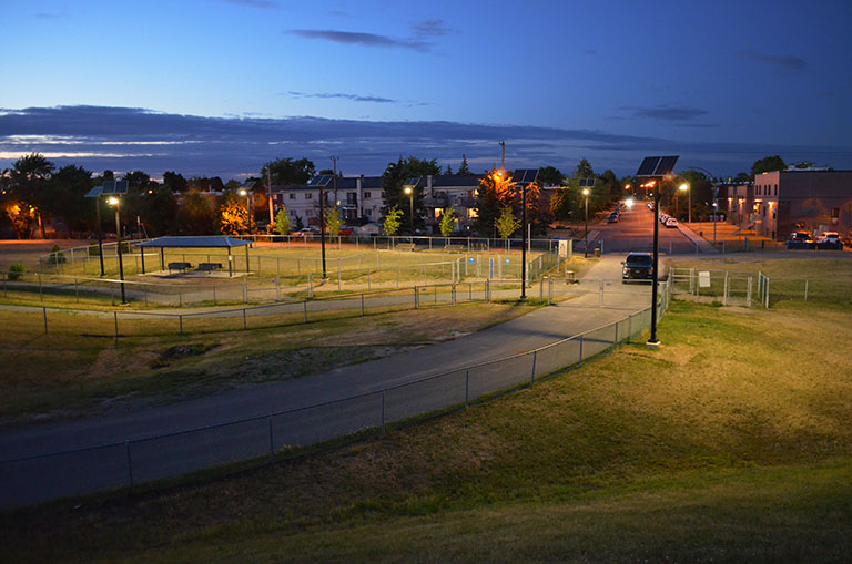 Dog park commercial solar lighting in Canada