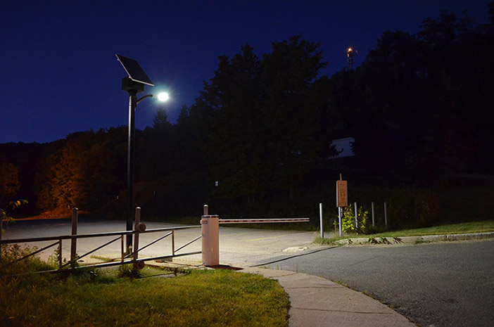 Gate Solar Lighting Solution manufactured in Canada